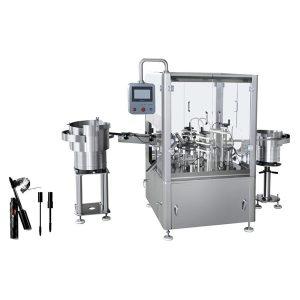 Automaatne ripsmetušši täitmise, ühendamise ja korgistamise masin